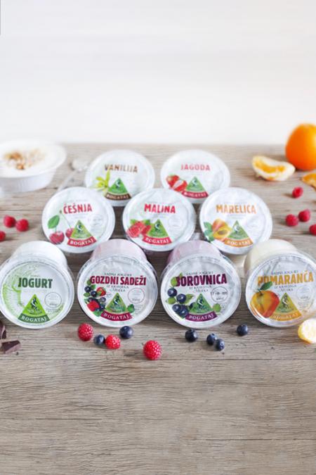 Sadni in navadni jogurt